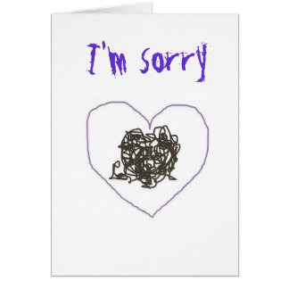 I'm sorry card