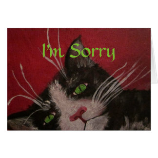I'm sorry cat card