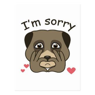 I'm sorry design postcard