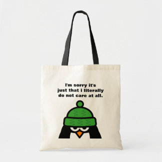 I'm sorry it's just that ... penguin tote bag