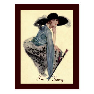 I'm Sorry Twenties Glamour Postcard