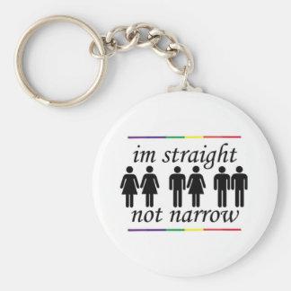 I'm Straight, Not Narrow Key Ring