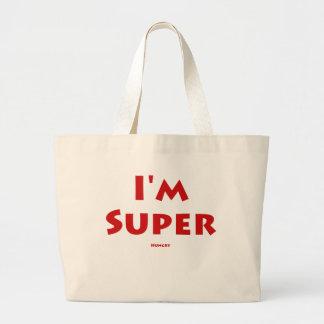 I'm Super.... Hungry Large Tote Bag