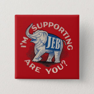 I'm Supporting Jeb 15 Cm Square Badge