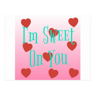 I'm Sweet On You | Custom Valentine's Day Hearts Postcard