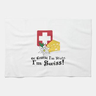 I'm Swiss! Tea Towel