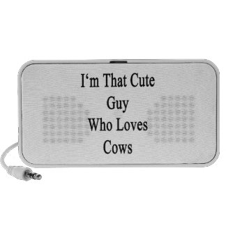 I'm That Cute Guy Who Loves Cows iPod Speakers
