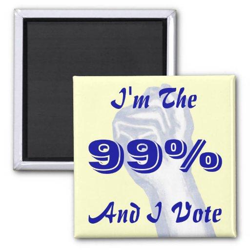 I'm The 99% Refrigerator Magnets