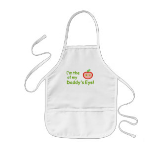 I'm the apple of Daddy's eyes! Kids' Apron