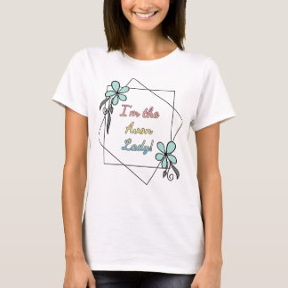 I'm the Avon Lady, floral with back print T-Shirt