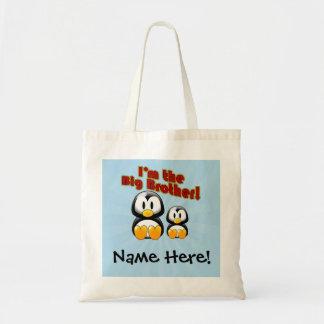 I'm the Big Brother, 2 Penguins Canvas Bag