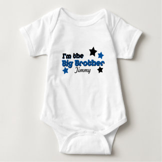 I'm The Big Brother In Blue & Black Baby Bodysuit