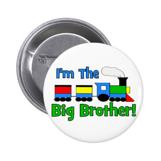 I'm The Big Brother TRAIN 6 Cm Round Badge