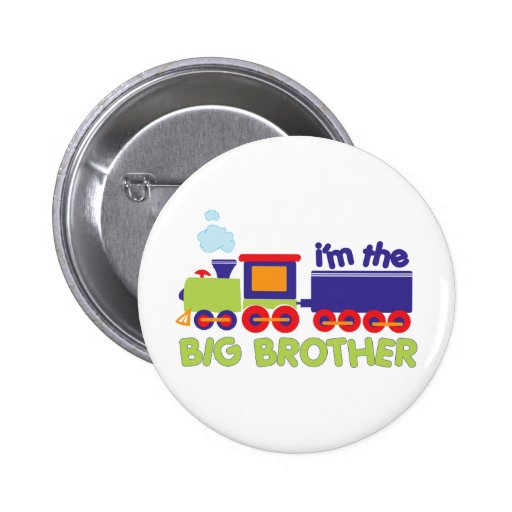 I'm the Big Brother Train T-shirt Buttons