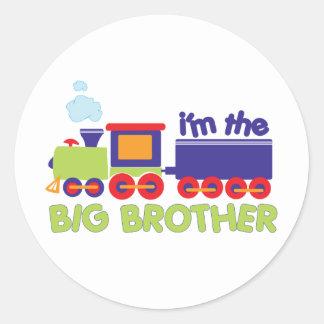 I'm the Big Brother Train T-shirt Round Sticker
