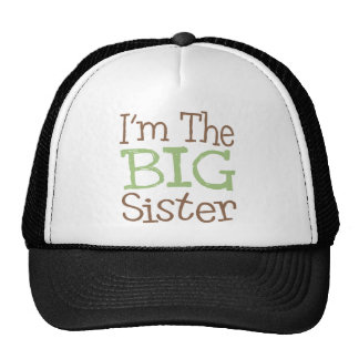 I'm The Big Sister (Green) Mesh Hat