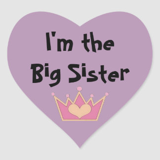 I'm the Big Sister Heart Sticker