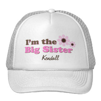 I'm The Big Sister Mod Flowers Personalized Mesh Hat