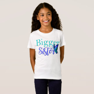 I'm The Bigger Sister Shirt Blue Green Butterfly
