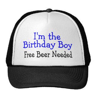 Im The Birthday Boy Free Beer Needed Trucker Hats