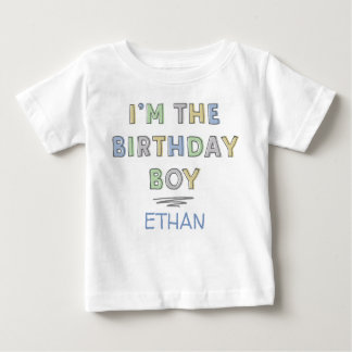 I'm the Birthday Boy - Personalised Baby T-Shirt