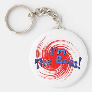I'm The Boss Basic Round Button Key Ring