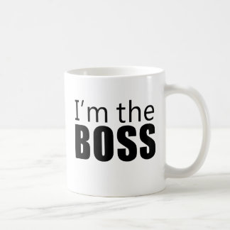 Im the Boss Basic White Mug