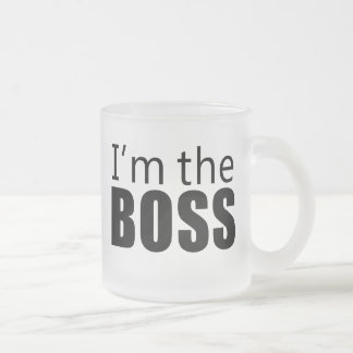 Im the Boss Frosted Glass Mug