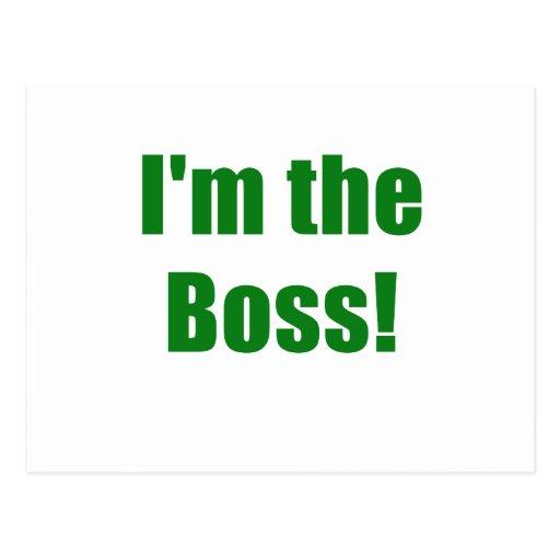 Im the Boss Post Card