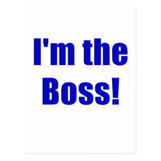 Im the Boss Postcard