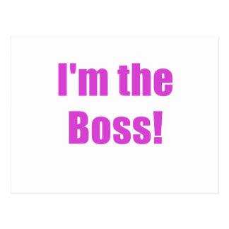 Im the Boss Postcard