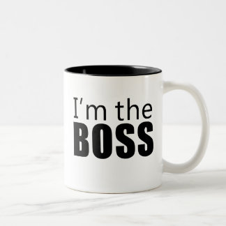 Im the Boss Two-Tone Coffee Mug
