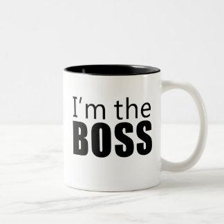 Im the Boss Two-Tone Coffee Mug