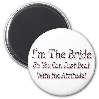 I'm The Bride 6 Cm Round Magnet