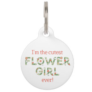 I'm The Cutest Flower Girl Large Pet Tag