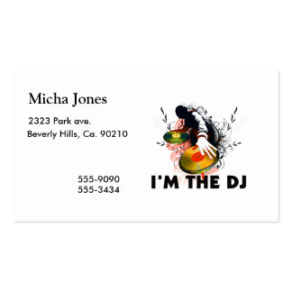 I'm The DJ Rockin The Turntables Double-Sided Standard Business Cards (Pack Of 100)