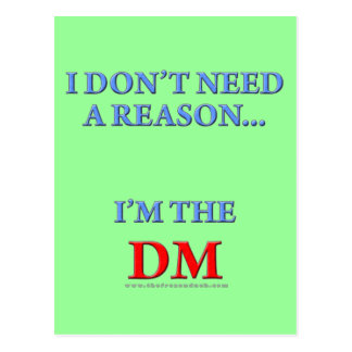 I'm the DM Postcard