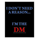 I'm the DM Posters