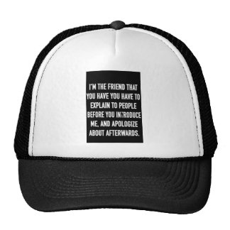 i'm the friend you have to explain and apologize f hat