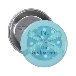 I'm the Godparent of a Baby Boy 6 Cm Round Badge