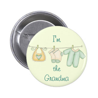 I'm the Grandma Baby Announcement 2 Inch Round Button