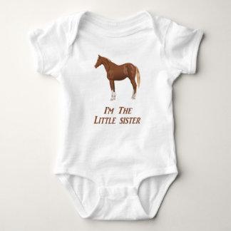 I'm the little sister horse apparel baby bodysuit