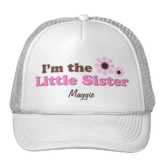 I'm The Little Sister Mod Flowers Personalized Cap