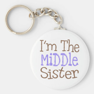 I'm The Middle Sister (Purple) Basic Round Button Key Ring