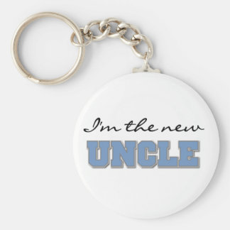 I'm the New Uncle Basic Round Button Key Ring