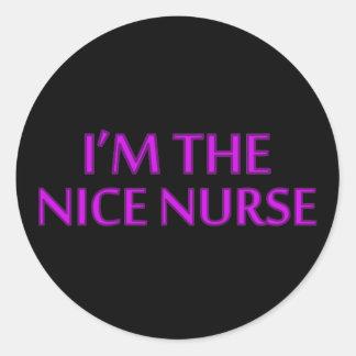I'm the Nice Nurse Round Stickers