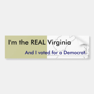 I'm the REAL Virginia - Bumper Sticker