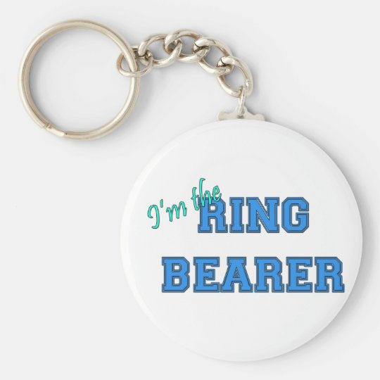 I'm The Ring Bearer Basic Round Button Key Ring