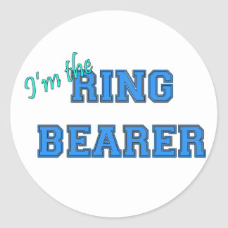 I'm The Ring Bearer Round Sticker