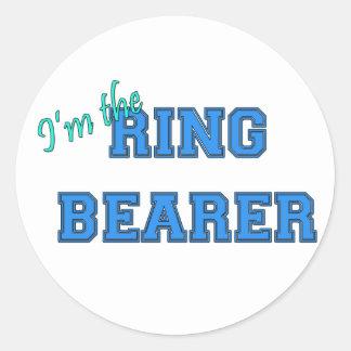 I'm The Ring Bearer Round Sticker